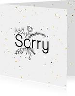Sorrykaart - flowers