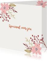 Speciaal voor jou bloemen kaartje