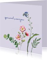 Speciaal voor jou - bloemen - zomaarkaart
