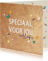Speciaal voor jou, veel liefs -golden - zomaarkaart