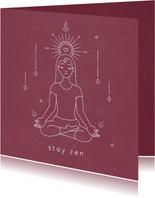 Spirituele zen kaart