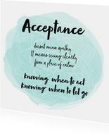 Spreukenkaart Acceptance