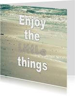 Spreukenkaart little things