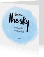 Spreukenkaart The sky