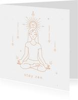 Stay zen succes kaart