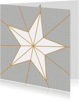 Kerstkaarten - Ster geometrisch oker