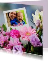 Sterkte bloemen met kaart