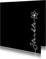 Sterkte gewenst met bloem