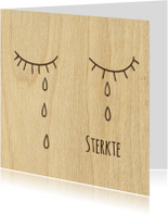 sterkte houten traan