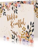 Sterkte kaart met bloemen en takjes