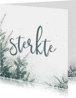 Sterkte kaart met bomen en sneeuw