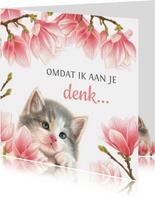 Sterkte kaart met lief katje
