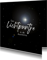 Sterkte kaart met positief lichtpuntje in de duisternis