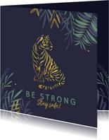 Sterkte kaart met stoere tijger