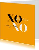 Sterkte kaart modern XOXO weet dat ik aan je denk