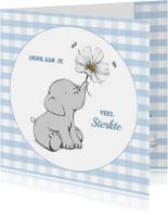 Sterkte kaarten - Sterkte kaart olifantje en bloem - IH