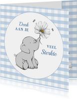 Sterkte kaart olifantje en bloem - IH