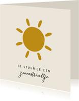 """Sterkte kaart zonnestraaltje """"Zon"""""""