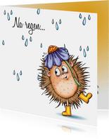 Sterkte kaarten egel in de regen