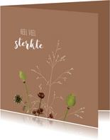 Sterkte kaartje bloemen illustratie