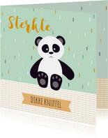 Sterkte kaartje met een lieve panda