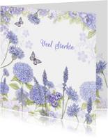 Sterkte met blauwe bloemen