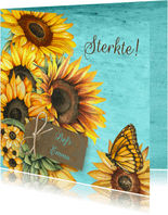 Sterkte zonnebloemen label