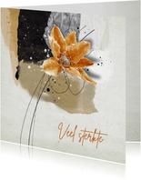 Sterktekaart abstract achtergrond bloem