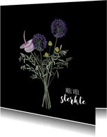 Sterktekaart boeket mooie bloemen