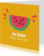 Sterktekaart - Een meloen kusjes