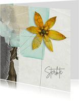 Sterktekaart gele bloem op vakken