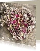 Sterktekaart hart van hortensia's