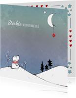 Sterktekaart ijsbeer en maan  IH