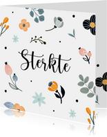Sterktekaart met bloemenpatroon