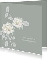 Sterktekaart mooie witte rozen