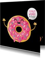 Sterktekaart opbeurend donut worry