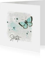 Sterktekaart pastel aquarel butterfly