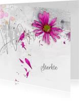 Sterktekaart vallende bloemblaadjes