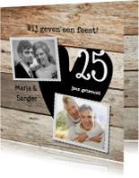 Stijlviolle 25 jaar foto huwelijksfeest hout