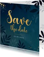 Stijlvolle botanische save the date kaart