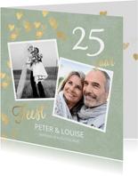 Stijlvolle huwelijk jubileum uitnodiging 25 jaar foto