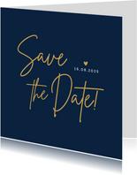 Stijlvolle minimalistische Save the Date kaart met datum
