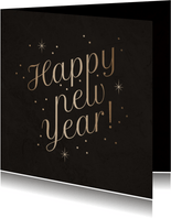 Stijlvolle nieuwjaarskaart 'Happy New Year' fonkels