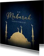 Stijlvolle religiekaart Eid Mubarak voor offerfeest moskee