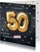 Stijlvolle uitnodiging 50 jarig huwelijk
