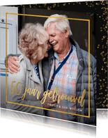Stijlvolle uitnodiging gouden huwelijk met eigen foto