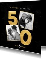 Stijlvolle uitnodiging jubileum 50 jaar getrouwd met foto's