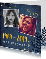 Stijlvolle uitnodiging voor je 50ste verjaardag met 1969