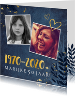 Stijlvolle uitnodiging voor je 50ste verjaardag met 1970
