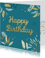Stijlvolle verjaardagskaart met stippen